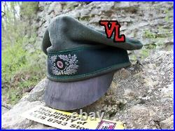 WW2 GERMAN HEER 1'st MOUNTAIN DIV. EDELWEISS NCO CRUSHER BATTLE USED STYLE