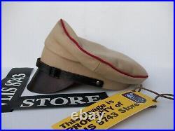 WW2 GERMAN HJ LEADER OBERBANN1 CRUSHER CAP, SUPERB REPLICA! SIZE60cm
