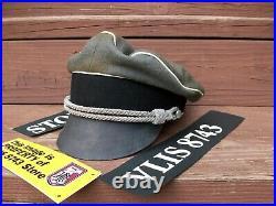 WW2 GERMAN WAFFEN-SS LAH OFFICER'S FIELD'CRUSHER' GREY WOOL(nice replica)
