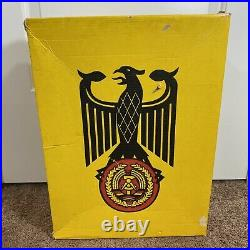 WW2 German Boots High Combat Leather With Box 28 1/2 Black Please Read