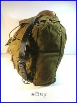 WW2 German Canvas & Leather Rucksack Backpack NICE