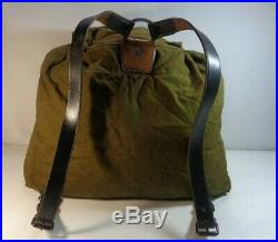 WW2 German Canvas & Leather Rucksack Backpack NICE