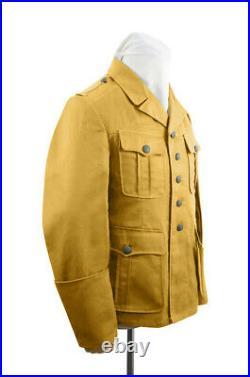 WW2 German DAK/Tropical Afrikakorps M40 officer sand field tunic XL
