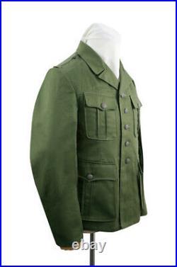WW2 German DAK Tropical Afrikakorps olivebrown field tunic 1st pattern M40
