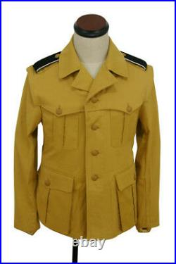 WW2 German DAK/Tropical elite sand field tunic 1st pattern/M43 Italian SAHARIANA