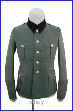 WW2 German Elite M36 officer Gabardine black collar service tunic Jacket
