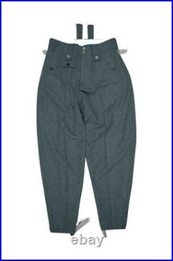 WW2 German Elite M43 Italian Field Wool trousers keilhosen blue green grey
