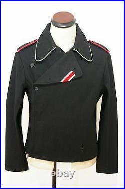 WW2 German Elite officer panzer black wool wrap/jacket