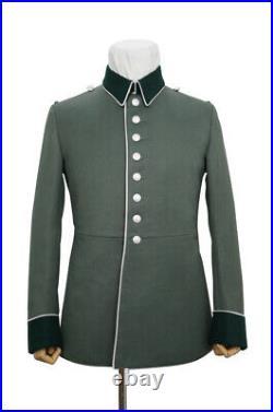 WW2 German Heer M35 infantry Officer waffenrock Gabardine piped tunic