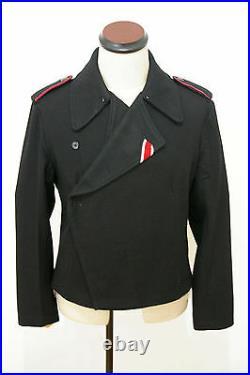WW2 German Heer panzer black wool wrap/jacket S