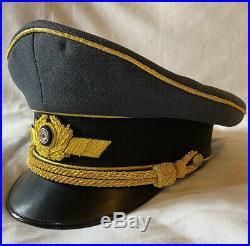 WW2 German Luftwaffe Airforce Military General Officers Visor Hat Cap EREL