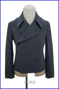 WW2 German Luftwaffe blue grey wool panzer wrap jacket