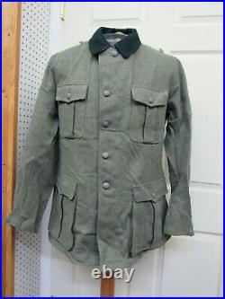 WW2 German M36 Reproduction Field Grey Wool Tunic Made in Germany Sturm