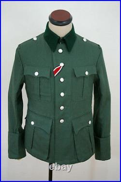 WW2 German M36 officer summer HBT reed green field tunic