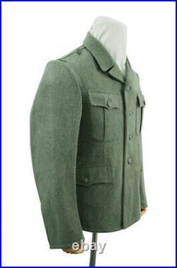 WW2 German M37 elite EM fieldgrey wool tunic Feldbluse