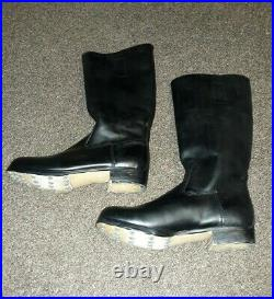 WW2 German M39 Jack Boots Marching Riding Motorcycle Cavalry Hobnails Size 11