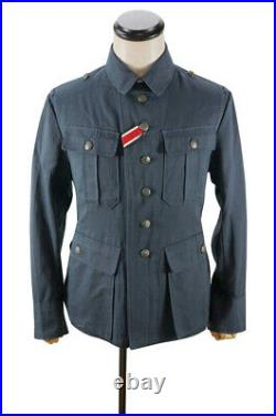 WW2 German M41 DAK/Tropical Afrikakorps summer Luftwaffe blue grey tunic