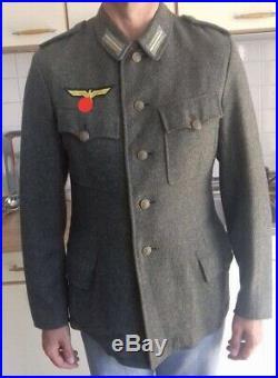 WW2 German M42 Kriegsmarine coastal field wool tunic Feldbluse