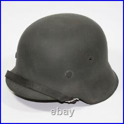 WW2 German M42 WH helmet complete with liner, chinstrap and split pins size 64