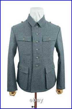 WW2 German M43 Heer EM Italian Field Wool tunic Feldbluse blue green grey M