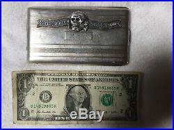 WW2 German Officer's Waffen SS Silver Cigarette Case