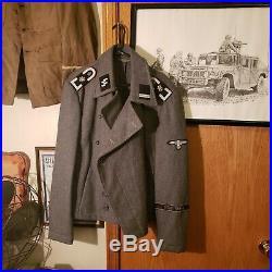 WW2 German Panzer Officers Wool JACKET AH Cuff Title