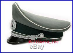 WW2 German Repro Heer Field Gray Gabardine Visor Cap All Sizes