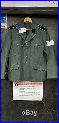 WW2 German Reproduction Army Green M37 Field Blouse Feldbluse Lost Battalions
