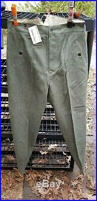 WW2 German Reproduction M36 Mountain Trousers Grey Wool Steingrau Berghosen