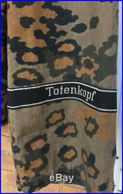 WW2 German SS uniform Totenkopf oakleaf camo top and bottom repro