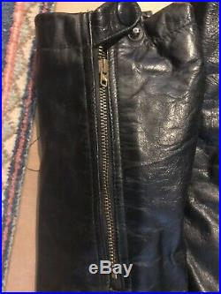 WW2 German Tanker/Luftwaffe Large Full Length Black Leather Motorcycle Coverall