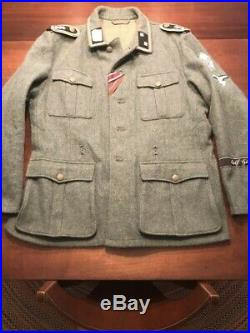 WW2 German Waffen M40 LAH Uniform Tunic 48 Trousers 38