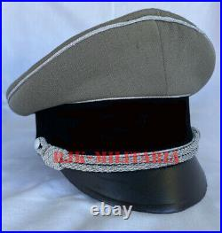 WW2 German Waffen SS Elite General Officer Crusher Visor Hat Cap (Janka Made)