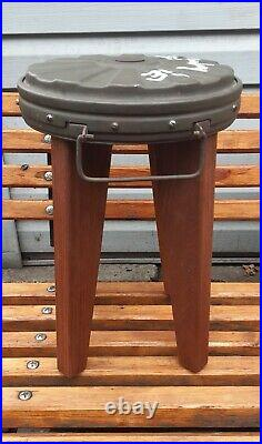 WW2 German Wood stool Original TMi-35 Handwork Modern