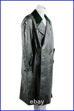 WW2 German earlier Motorcyclist rubberlized raincoat L