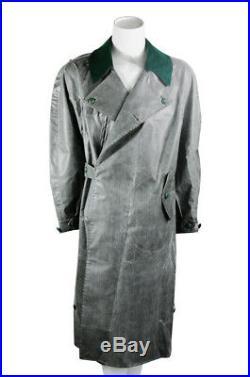 WW2 German earlier Motorcyclist rubberlized raincoat XL