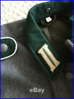 WW2 German m36 Tunic Steingrau (Stone Gray) With Tailored Litzen (collar tabs)