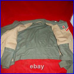 WW2 German model 1944 SHORT TUNIC WITH ALL INSIGNIA
