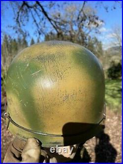 WW2 M38 FJ German Paratrooper Helmet Repro Camofauged Helmet