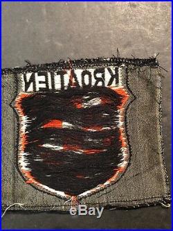WW2 Original German Croatian Sleeve Shield