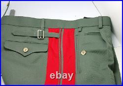 WW2 Repro German General Field Gray Gabardine Trousers All Sizes