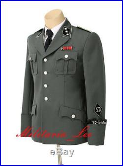 WW2 Repro German M34/37 Gray Gabardine Tunic (SD) with Sleeve Insignia
