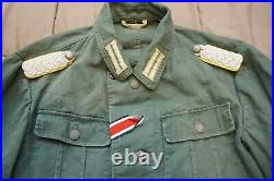 WW2 Repro German M41 Summer Tunic Signal Corps Major Boards Cuff Trousers Shorts