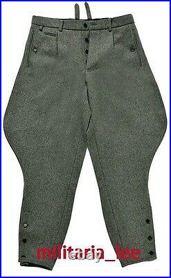 WW2 Repro German Officer Field Gray Wool Combat Breeches All Sizes