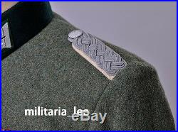 WW2 Rerpo German Officer M36 Field Gray Wool Combat Tunic All Sizes