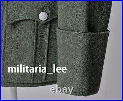 WW2 Rerpo German Officer M36 Field Gray Wool Combat Tunic All Sizes