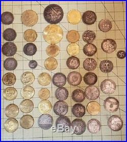 WW2 WWII German Elite coins lot x 51 SS Kampft Schilling money 1938 39 40 44