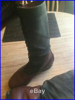 WWII GERMAN AFRIKA KORPS DAK TROPICAL HIGH BOOTS Size 10 1/2