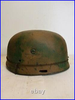 WWII GERMAN M37 Paratrooper HELMET WithHand Aged Paint Work and Liner