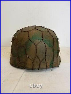 WWII GERMAN M37 Winter Paratrooper HELMET WithHand Aged Paint Work and Liner